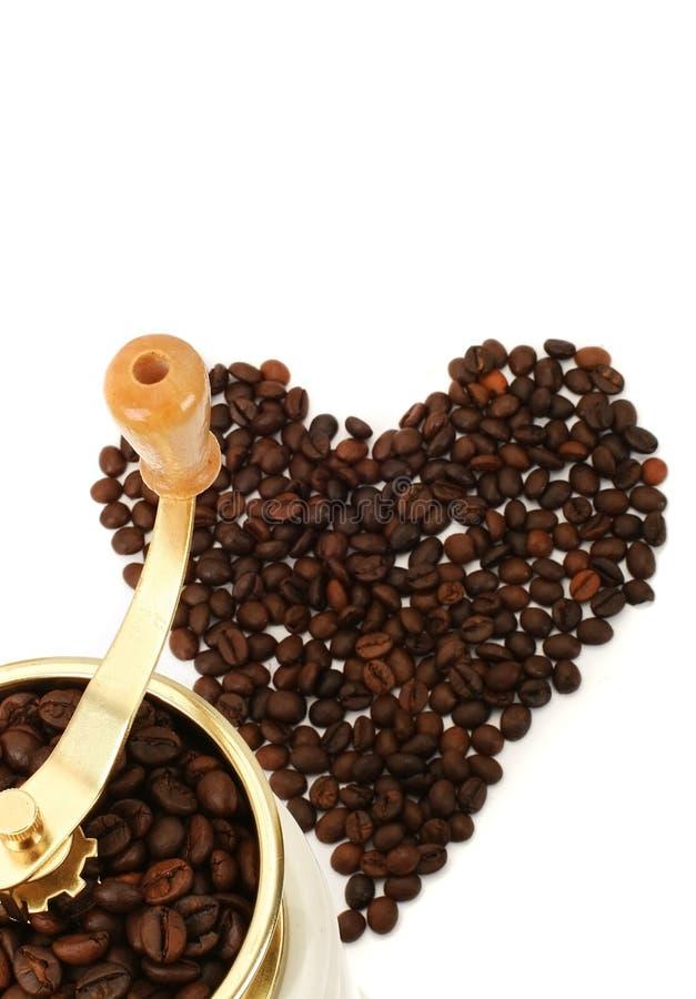 Download Amoladora De Café Con Los Granos De Café Imagen de archivo - Imagen de fondo, cafeína: 7276577
