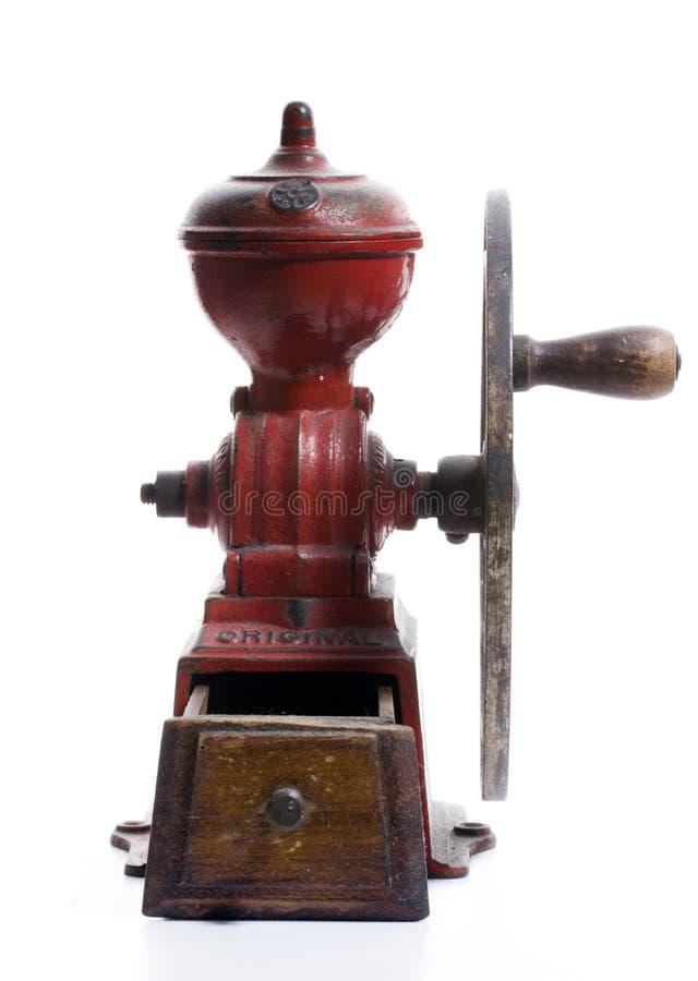 Amoladora de café española antigua imagen de archivo