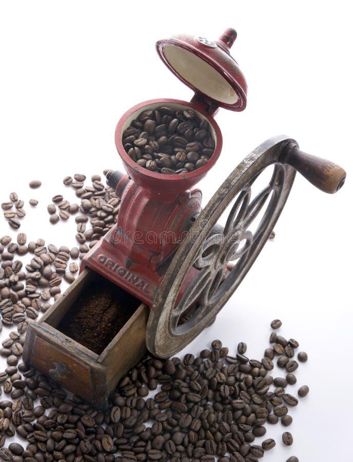Amoladora de café española antigua foto de archivo libre de regalías