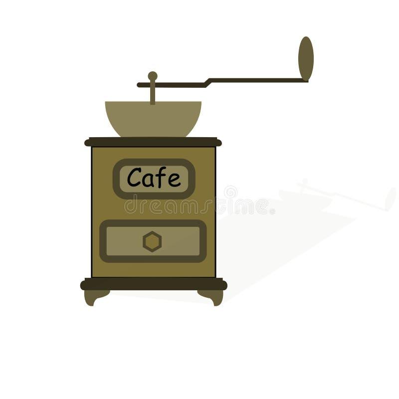 Amoladora de café manual vieja libre illustration