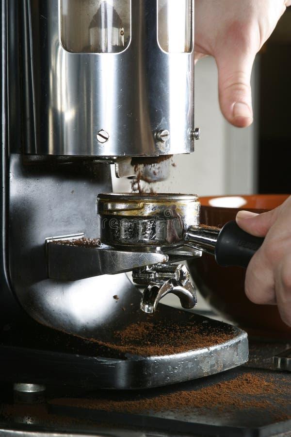 Amoladora del café express fotos de archivo libres de regalías