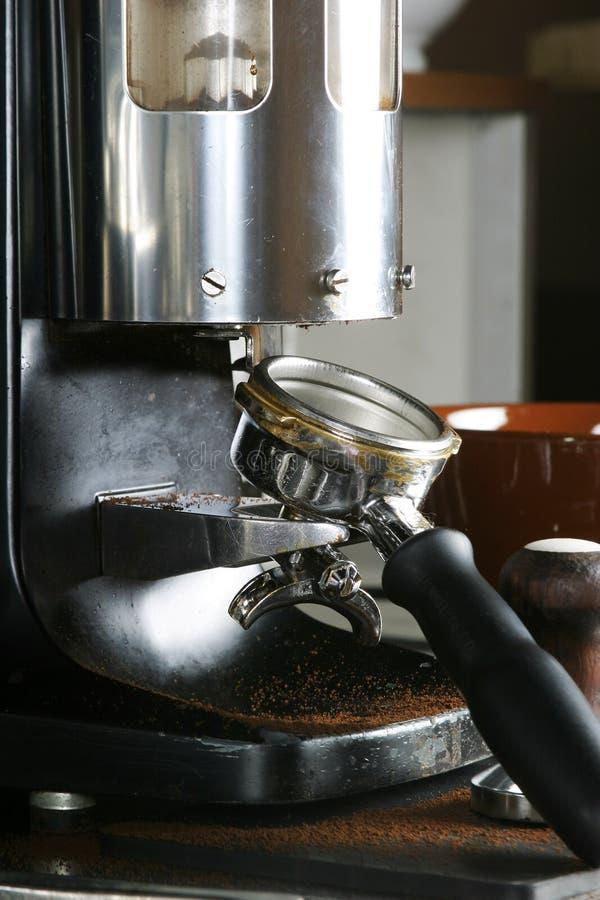 Amoladora del café express fotografía de archivo
