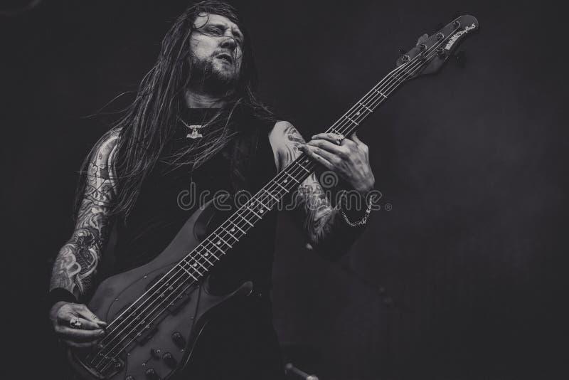 Amon Amarth, concerto in tensione 2016 di Ted Lundström immagini stock libere da diritti