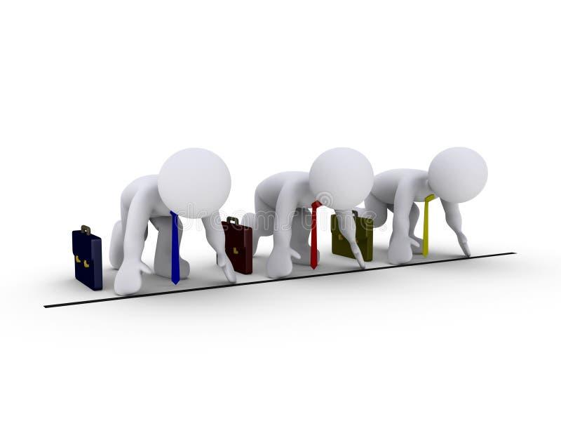 amonst οι επιχειρηματίες συναγωνίζονται απεικόνιση αποθεμάτων
