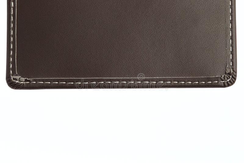 amorçage en cuir brun de points de configuration photos stock