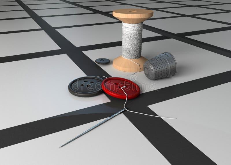 Amorçage et un bouton. illustration de vecteur