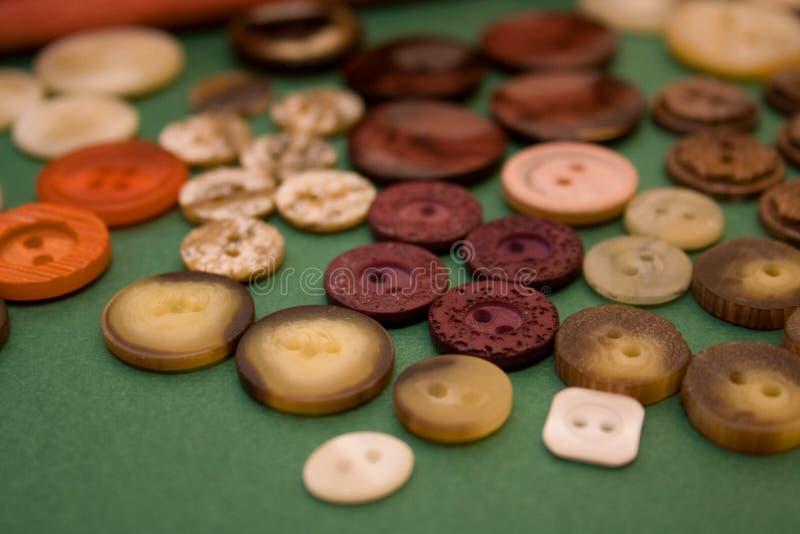 Amorçages, textile, boutons images libres de droits