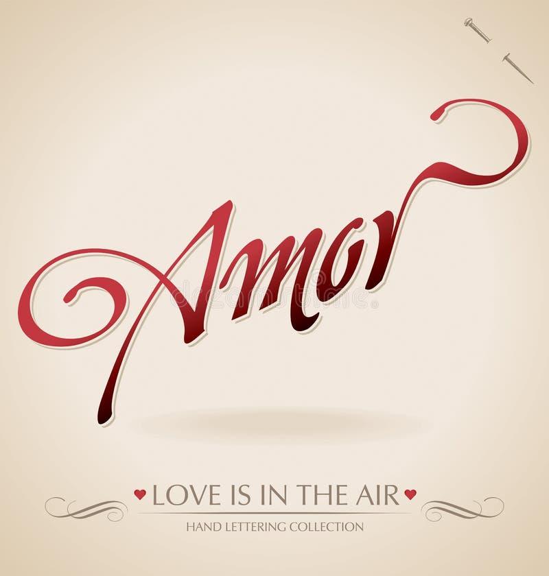 amor现有量字法向量 库存例证