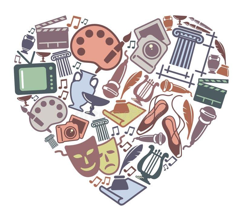 Amor à arte ilustração royalty free