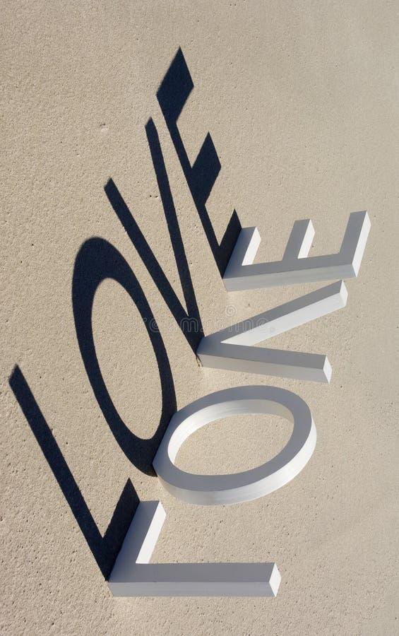 Amor 1 de la playa fotos de archivo libres de regalías
