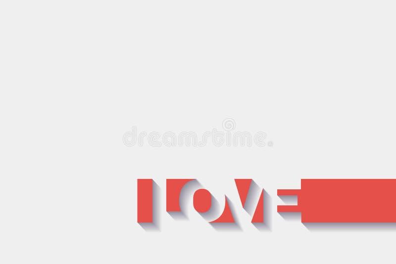 AMOR abstracto del diseño del texto con el efecto 3D libre illustration