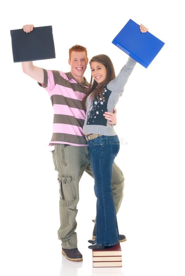 Amor adolescente da High School dos estudantes imagens de stock royalty free