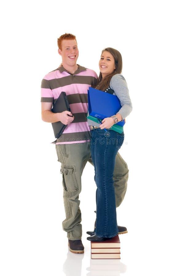 Amor adolescente da High School dos estudantes fotografia de stock