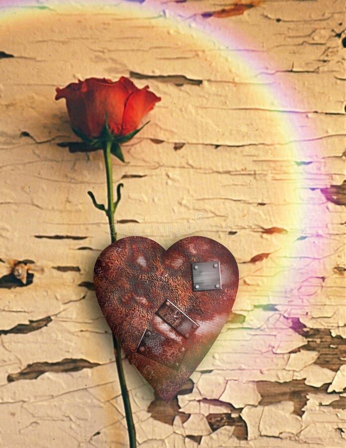 Amor aherrumbrado ilustración del vector