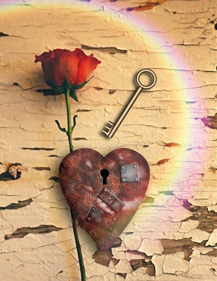 Amor aherrumbrado stock de ilustración