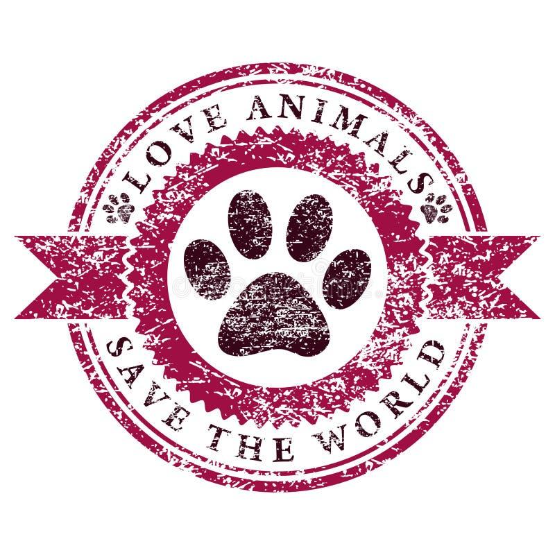 Amor Animals ilustración del vector