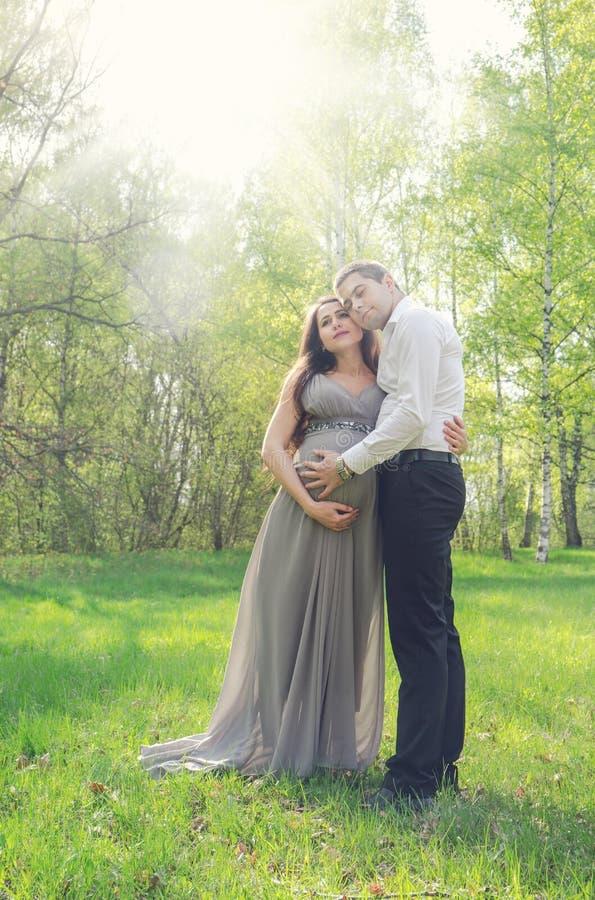 Amor apacible en el parque imagen de archivo