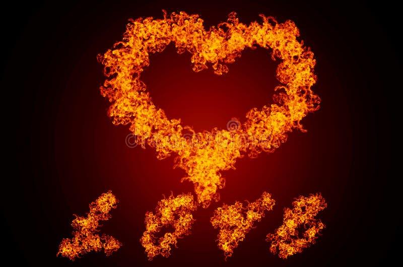 Amor ardente ilustração stock