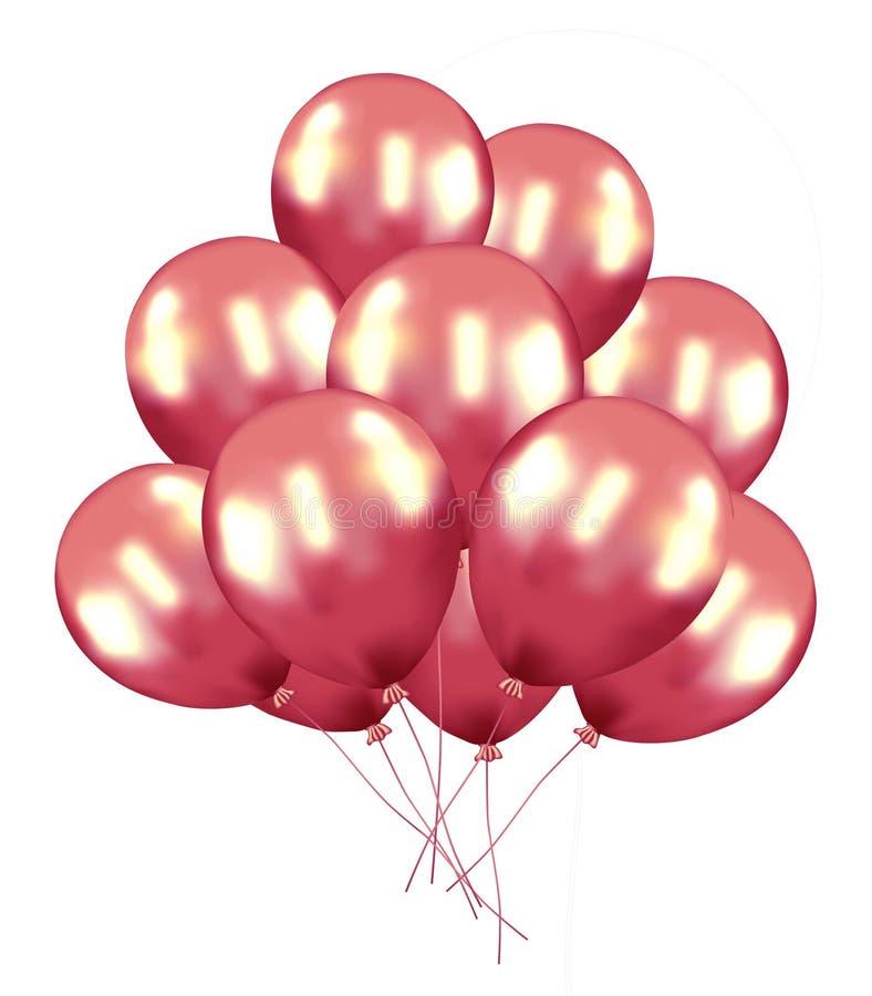 Amor Baloon aislado en blanco, coraz?n del impulso: concepto rojo del amor de la tarjeta del d?a de San Valent?n, d?a de San Vale libre illustration