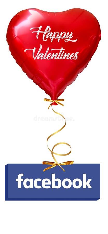 Amor Baloon isolado em branco, cora??o do Ballon: conceito vermelho do amor do Valentim, dia de Valentim ısolated ilustração stock