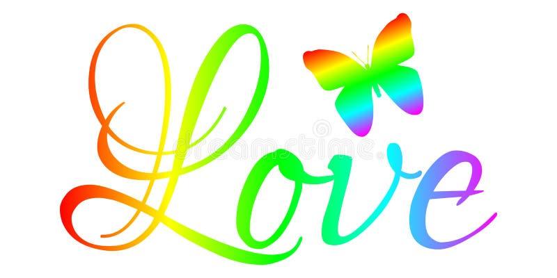 Amor - bandera de la motivación ilustración del vector