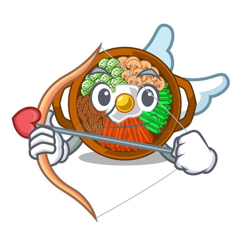 Amor Bibimbap lokalisiert mit im Charakter lizenzfreie abbildung