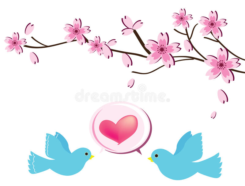 Amor bird2 ilustração stock