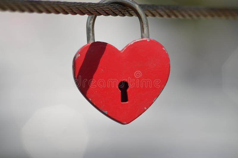 Amor bloqueado imagen de archivo