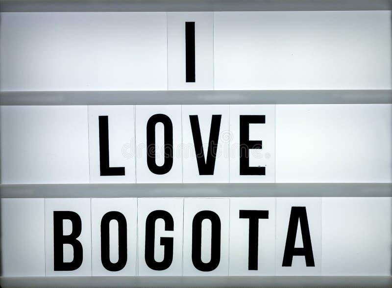 Amor Bogotá de la caja de luz i imagenes de archivo