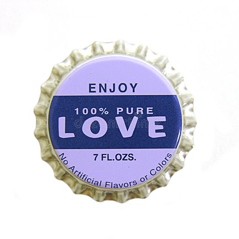 Amor Bottlecap fotos de archivo libres de regalías