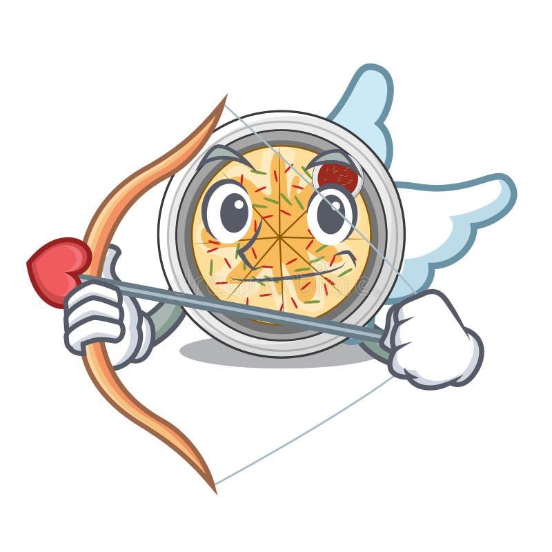 Amor buchimgae wird in der Karikaturschüssel gedient lizenzfreie abbildung