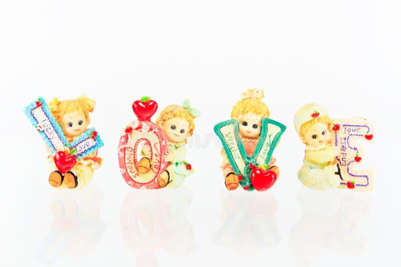 Download Amor cerâmico da boneca imagem de stock. Imagem de bouquet - 29841579