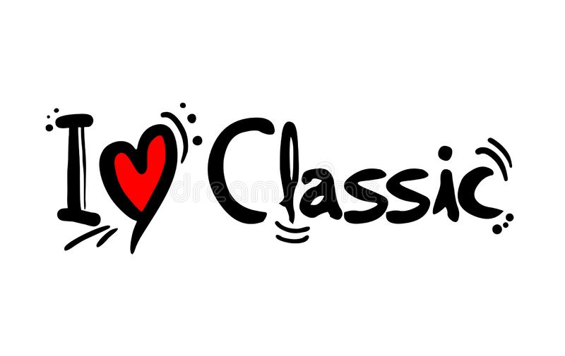 Amor clássico da música ilustração do vetor
