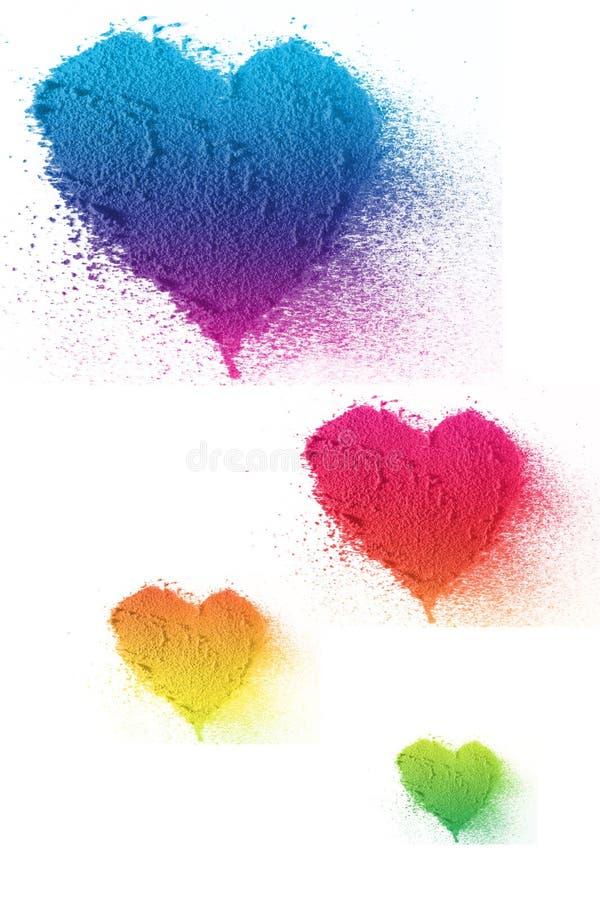 Amor colorido do coração imagens de stock