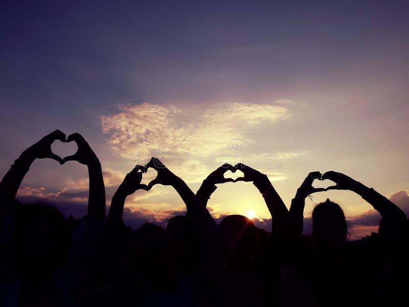 Amor com amigos foto de stock royalty free