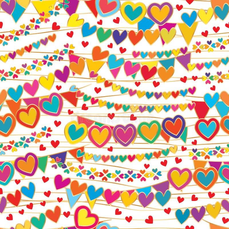 Amor como un modelo inconsútil de la caída de la bandera ilustración del vector