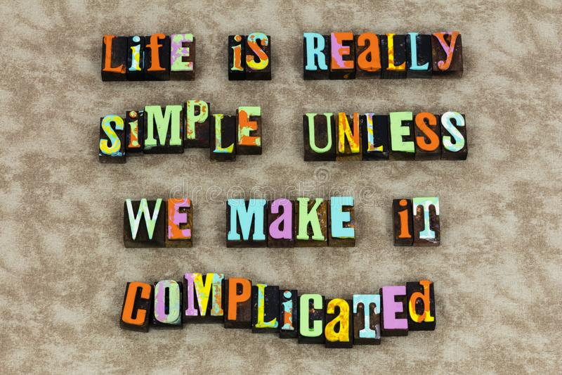 Amor complicado simple de la vida hermoso libre illustration