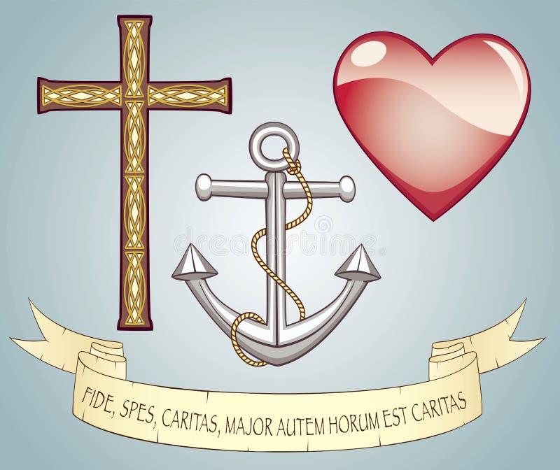 Amor da esperança da fé ilustração stock