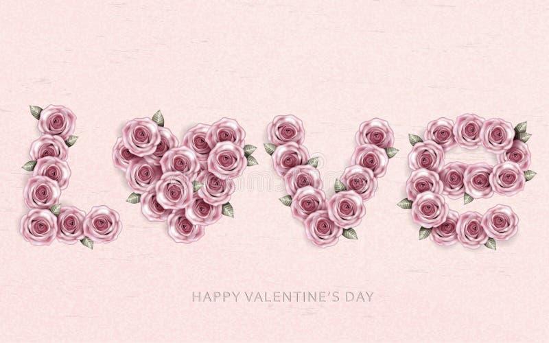 Amor da flor de Rosa ilustração stock