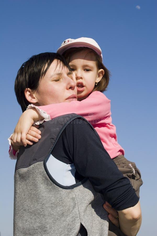 Amor da matriz e da criança foto de stock royalty free