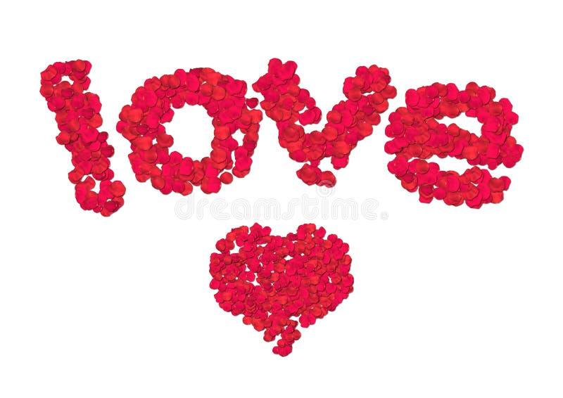 Amor da pétala de Rosa ilustração do vetor