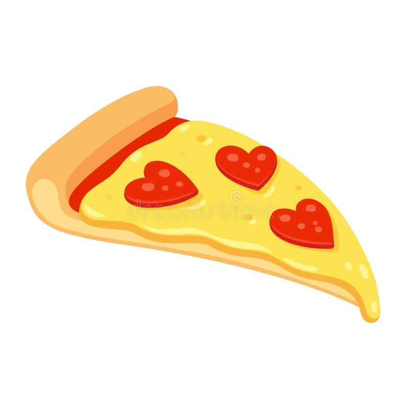 Amor da pizza de Pepperoni ilustração royalty free