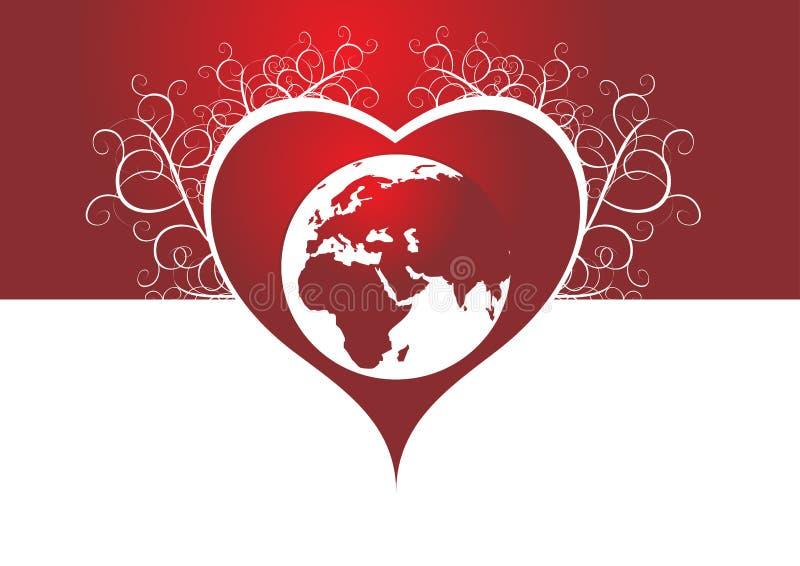 Amor da terra ilustração do vetor