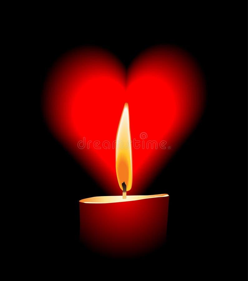 Amor da vela do vetor