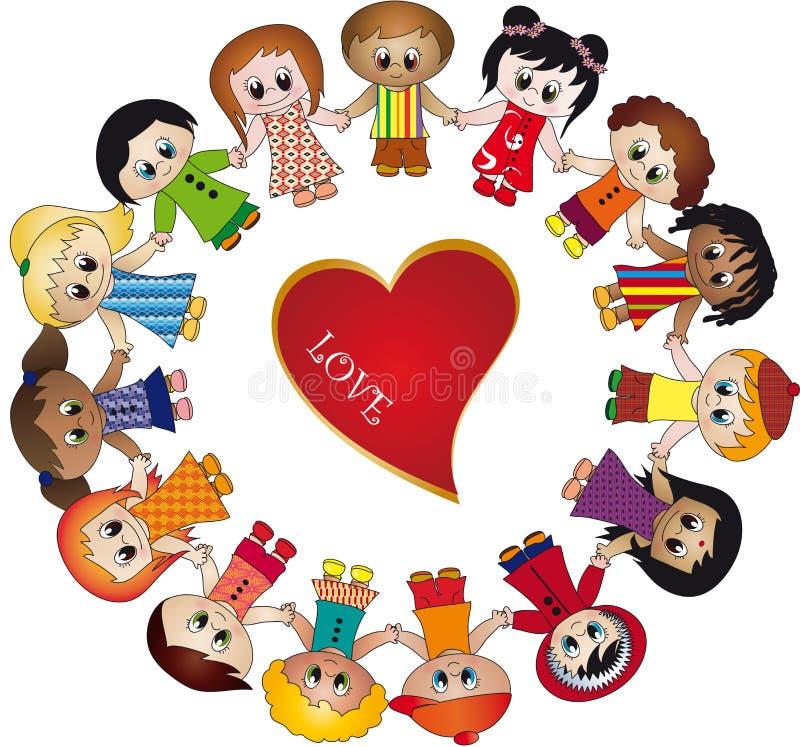 Amor das crianças ilustração do vetor