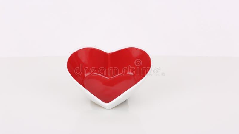 Amor de espera do coração vermelho imagem de stock royalty free