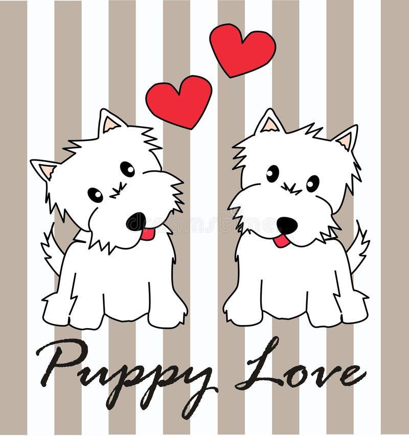 Amor de filhote de cachorro ilustração royalty free