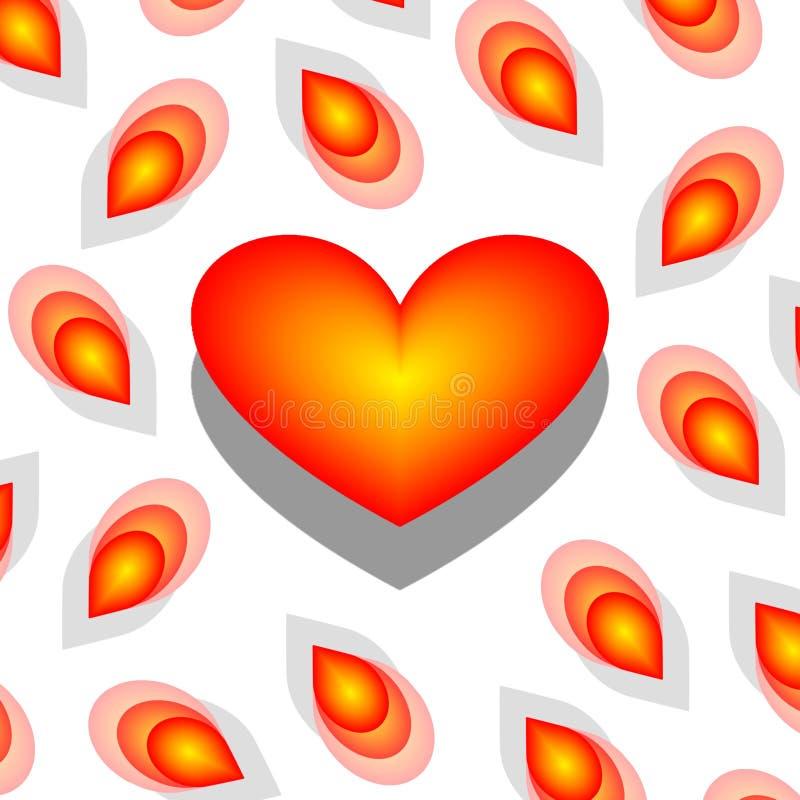 Amor de florescência ilustração do vetor