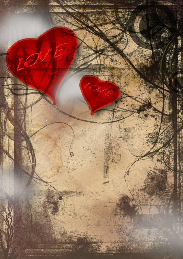 Amor de Grunge ilustração stock