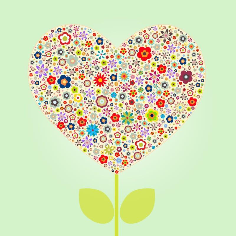 Amor de la dimensión de una variable del corazón stock de ilustración